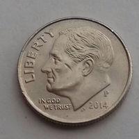 10 центов (дайм) США 2014 Р
