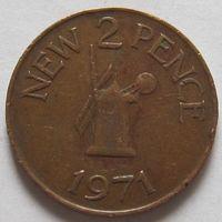 Гернси, 2 пенса 1971 г