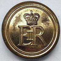 Пуговица служащих Военной  полиции Британии. Military Provost Staff Corps 25.5mm