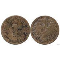 YS: Германия, Рейх, 1 пфенниг 1897D, KM# 10 (1)