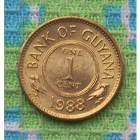 Гайана 1 цент 1988 года. UNC. Инвестируй в монееты планеты!
