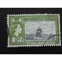 Английская Ямайка 1955 г. королева Елизавета II. Флот.