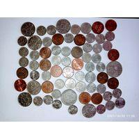 Монеты Швеции с рубля.