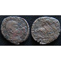 YS: Древний Рим, Константин II, бронзовая монета 337-361 н.э., монетный двор Аквилеи (AQT)