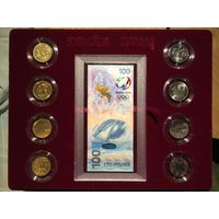 RRR СОЧИ 2014 RRR - Подарочный Набор с банкнота с логотипом UNC Uncirculated !!!