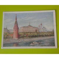 Открытка 1954г. Москва. Вид на Кремль.