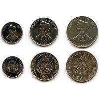 Гаити 5, 20 и 50 сантимов 1991, 1997 гг.