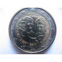 Бельгия 2 евро 2011г. 100 лет Международному женскому дню. (юбилейная) UNC!