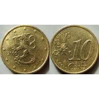 Финляндия, 10 евроцентов 2000 года