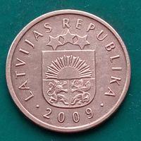 2 сантима 2009 ЛАТВИЯ - последний год чекана