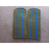 Погоны старшего офицера на рубашку ВВС СССР, тканевые, мягкие