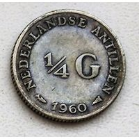 Нидерландские Антильские острова 1/4 гульдена, 1960 1-1-6