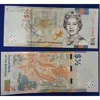 Распродажа!!! Багамские Острова - 1/2 Dollars. 2019. UNC (с 1 рубля)