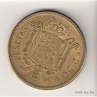 Испания, 2,5 pesetas, 1953г