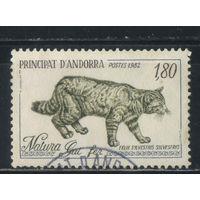Андорра Французская почта 1982 Охрана природы Среднеевропейский дикий кот #327