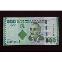 Танзания 500 шиллингов 2010 UNC
