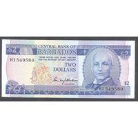 Барбадос 2 доллара 1980 г. 1-я серия редкая подпись.