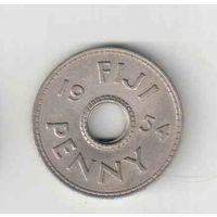 Пенни 1954 года острова Фиджи 35