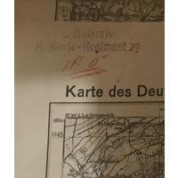 Немецкая артиллерийская карта 1938 г.