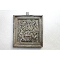 Икона Троица Ветхозаветная. 19 век.