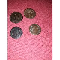 4 античные монеты-