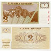 Словения. 2 толара (образца 1990 года, P2, UNC)