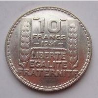 Франция, 10 франков, 1931, серебро