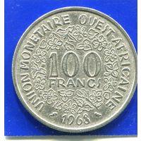 Западная Африка 100 франков 1968