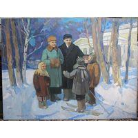 Ленин и Крупская. Довженко А. И