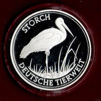 Германия /Фауна/ Дикая Природа/ Аист / Коллекционная монета Пруф (в капсуле)