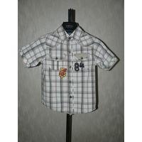 Фирменная Рубашка с принтами. Произведена  в Германии. Как новая