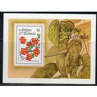Флора Цветы Антигуа и Барбуда 1984 год 1 чистый блок (М)