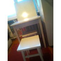 Стол раскладной обеденный 62х62 см, 2 табурета