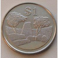 "Зимбабве. 1 доллар 2002 год  KM#6a  ""Руины большого Зимбабве"""