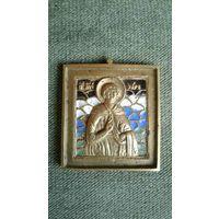 Икона меднолитая Святой Великомученик Уар