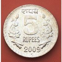 69-09 Индия, 5 рупий 2009 г. (м. д. Мумбаи)
