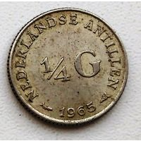 Нидерландские Антильские острова 1/4 гульдена, 1965 1-1-9