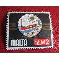 Распродажа - скидка 50%!Мальта 1976г. Местные мотивы