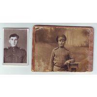 Два фото. царский и советский солдат. С 1 рубля!