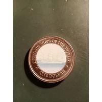 1 долар,2003г,Острова Кука.