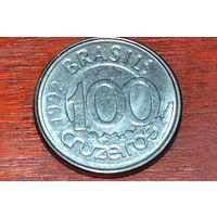 Бразилия 100 крузейро 1992 Ламантин
