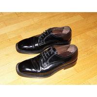 Классические Дерби Люкс - Туфли на выход из глянцевой кожи MORESCHI (Италия, 41 р-р)