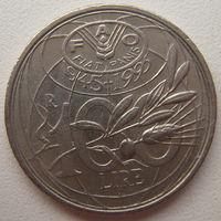 Италия 100 лир 1995 г. ФАО (u)