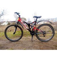 Велосипед STELS Challenger без тормозов.