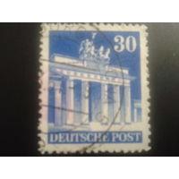 Германия 1948 англо-амер. зона L14 30 пф. Бранденбургские ворота