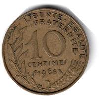 Франция. 10 сантимов. 1964 г.