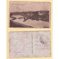 Гродна - Горад і разбураны рускімі мост. Фельдпошта 30.12.1915