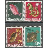 Новая Зеландия. Рыбы. 1970г. 4 марки.