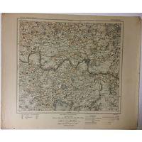 Оригинальная немецкая карта по ПМВ Краслава(Латвия и часть Браславского р-на) 1917г