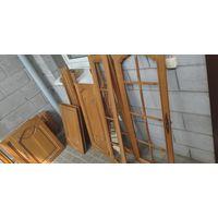 Двери мебельные, дуб, массив, СССР.